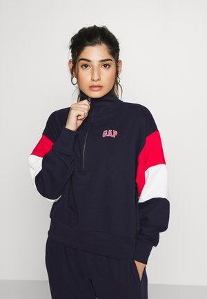 USA HALF ZIP - Sudadera - navy uniform
