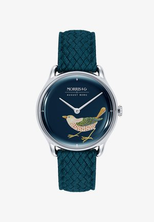 UHR MORRIS & CO SILVER BIRD INDIGO PERLON 30MM - Watch - indigo