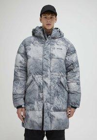 PULL&BEAR - Zimní kabát - mottled light grey - 0