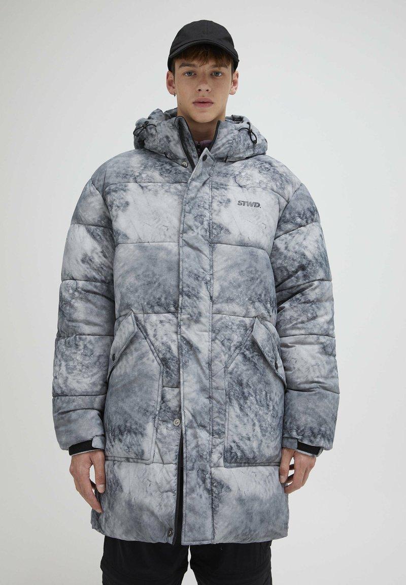 PULL&BEAR - Zimní kabát - mottled light grey