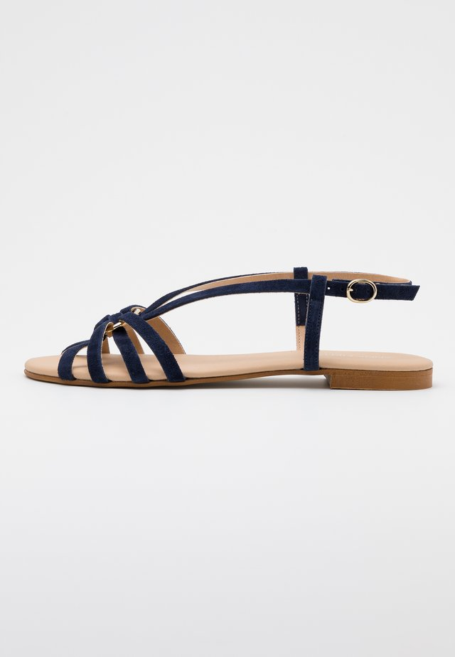 LEATHER - Sandals - blue