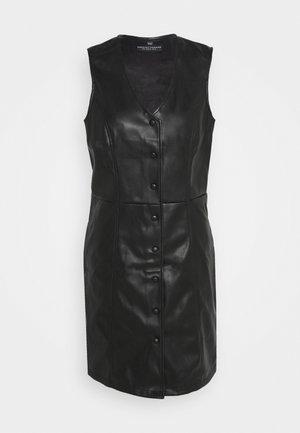 BUTTON DOWN PINNY DRESS - Day dress - black