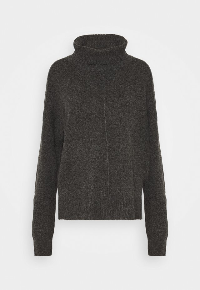 NMIAN ROLL NECK KNIT  - Strickpullover - dark grey melange