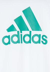 adidas Performance - TEE - T-shirt print - white/green - 3