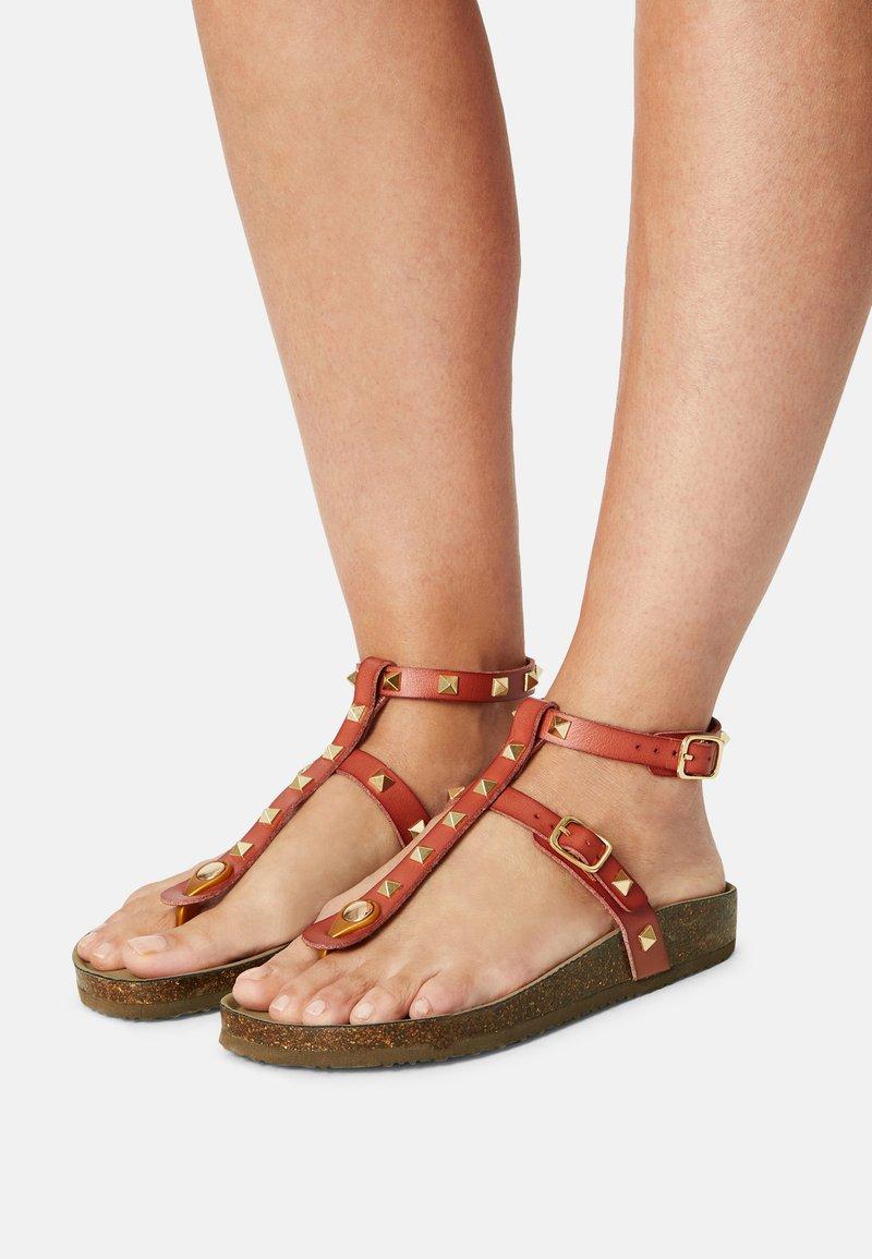 Madden Girl - BARNABY - T-bar sandals - light cognac