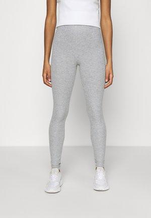 Leggings - Trousers - light grey melange