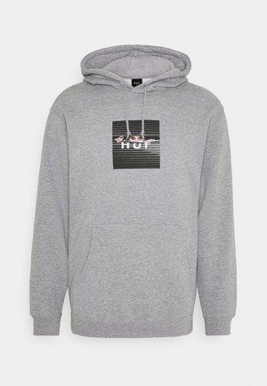 VOYEUR BOX LOGO HOODIE - Sweater - grey heather