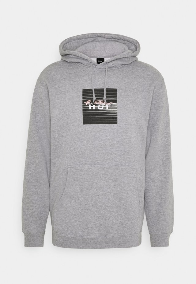 VOYEUR BOX LOGO HOODIE - Sweater - grey heather