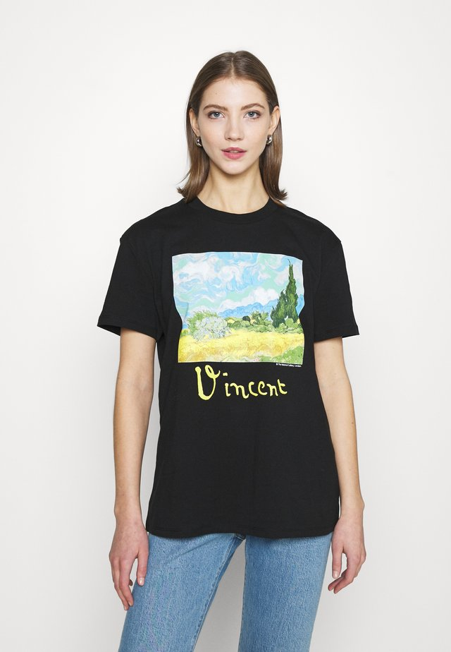 VAN GOGH MOTIF TEE - T-shirts print - black