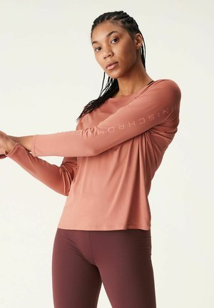 ACTIVE LOGO  - Long sleeved top - copper brown