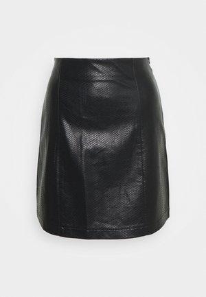 CELIA SKIRT KROKO - Spódnica trapezowa - schwarz