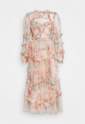 FLORAL DIAMOND RUFFLE BALLERINA DRESS - Occasion wear - topaz pink