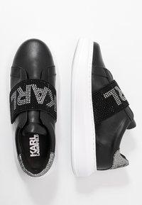 KARL LAGERFELD - KAPRI GLITZ LOGO - Sneakersy niskie - black/silver - 3
