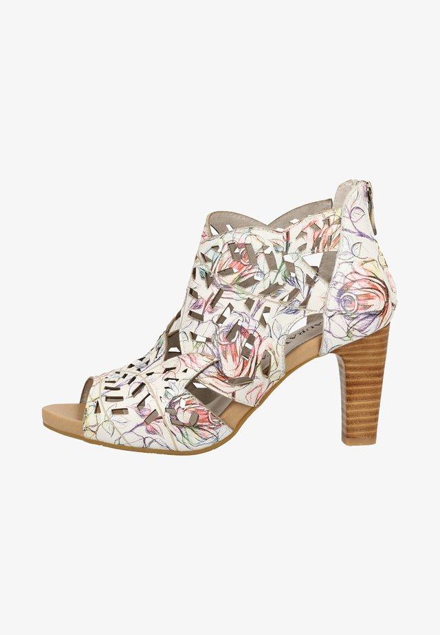 High heeled sandals - multi-coloured