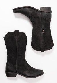 Felmini Wide Fit - GERBBERA - Cowboy/Biker boots - morgan black - 3