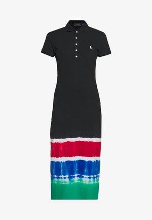 SHORT SLEEVE CASUAL DRESS - Vestito di maglina - black/ multi