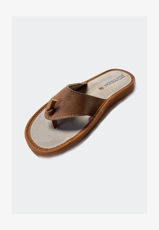 Sandály s odděleným palcem - tan brown