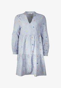 Zwillingsherz - BONNY - Day dress - blau/weiß - 0