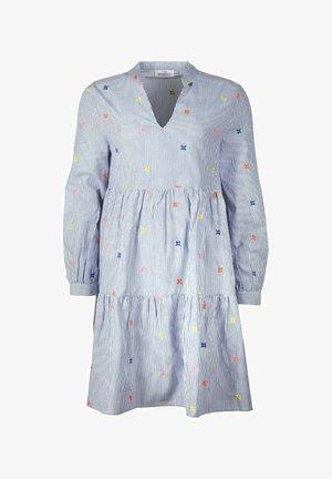 BONNY - Day dress - blau/weiß