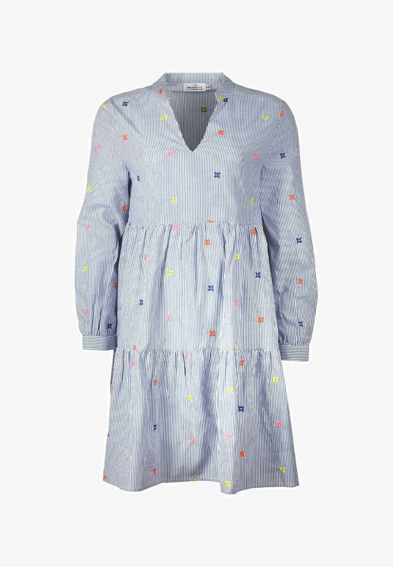 Zwillingsherz - BONNY - Day dress - blau/weiß