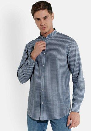 STREIFEN-HEMD STEHKRAGEN - Shirt - dunkelblau