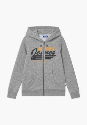 JJELOGO ZIP HOOD - Sweatjacke - light grey melange