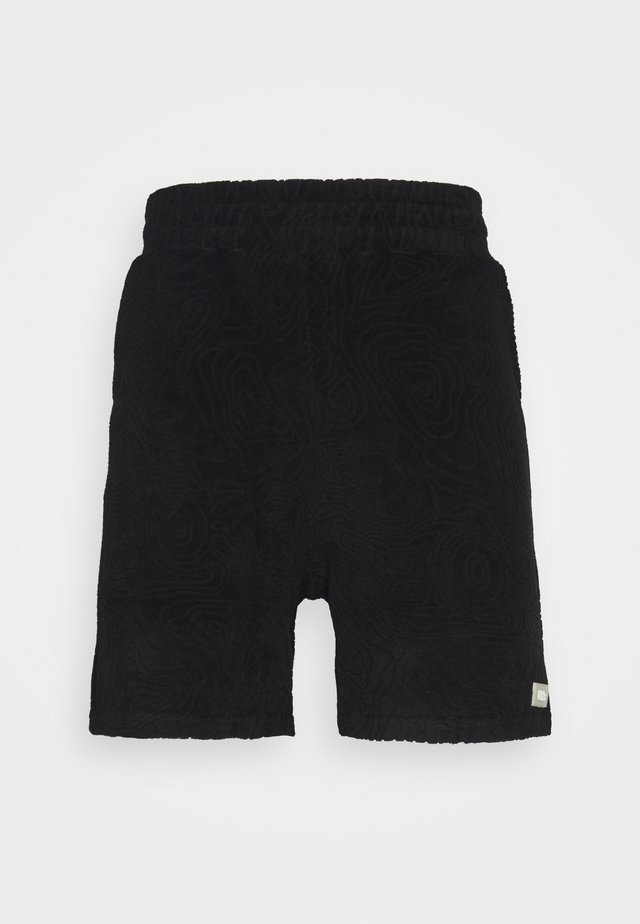 TOPOS SHAVED TERRY - Short - black