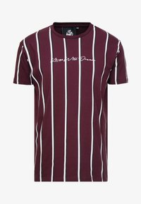 Kings Will Dream - MOFFAT TEE - Print T-shirt - burgundy/white/navy - 3