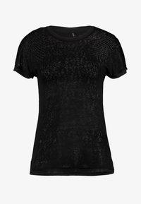 ONLY - ONLRILEY PEARL BOX - Print T-shirt - black - 3