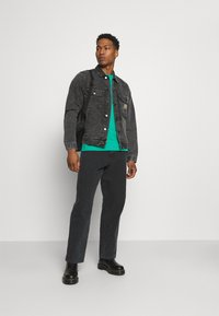 Carhartt WIP - STETSON JACKET PARKLAND - Giacca di jeans - black worn washed - 1