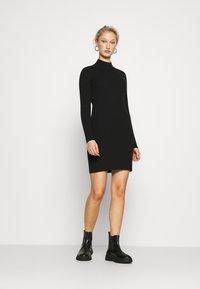 Calvin Klein Jeans - ROLL NECK DRESS - Jumper dress - black - 1