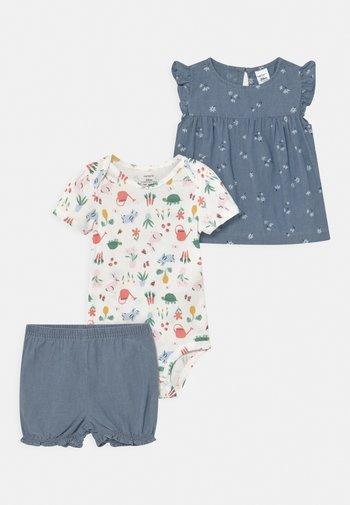 CHAMBRAY FLORAL SET - Print T-shirt - blue