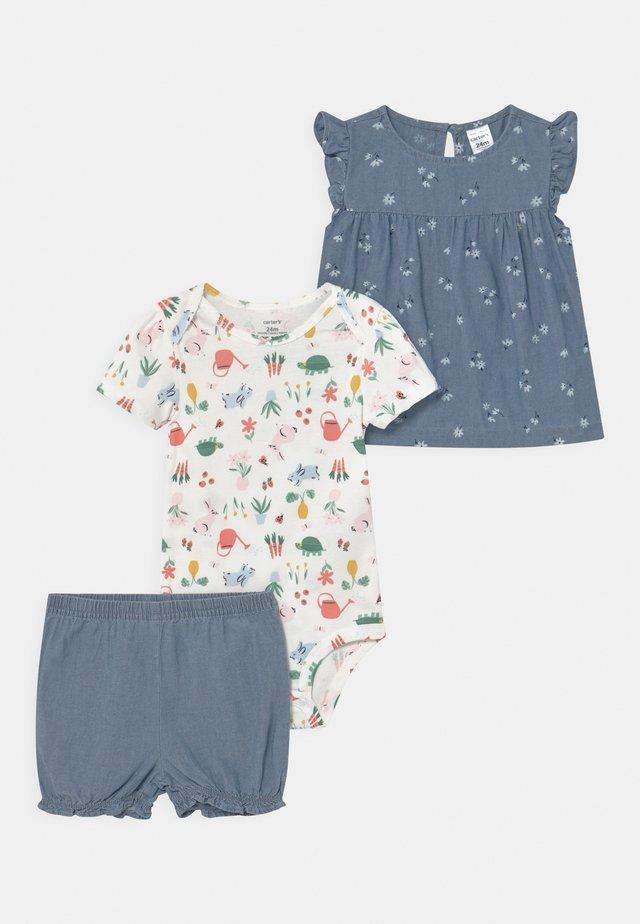 CHAMBRAY FLORAL SET - T-shirt print - blue