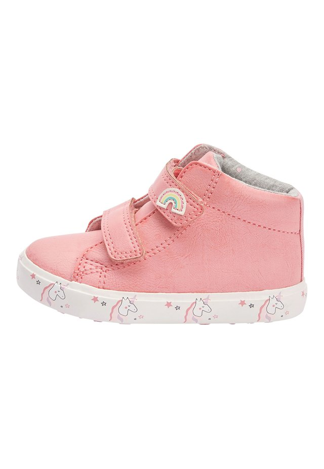 PINK TOUCH FASTENING HIGH TOP TRAINERS (YOUNGER) - Baby shoes - pink
