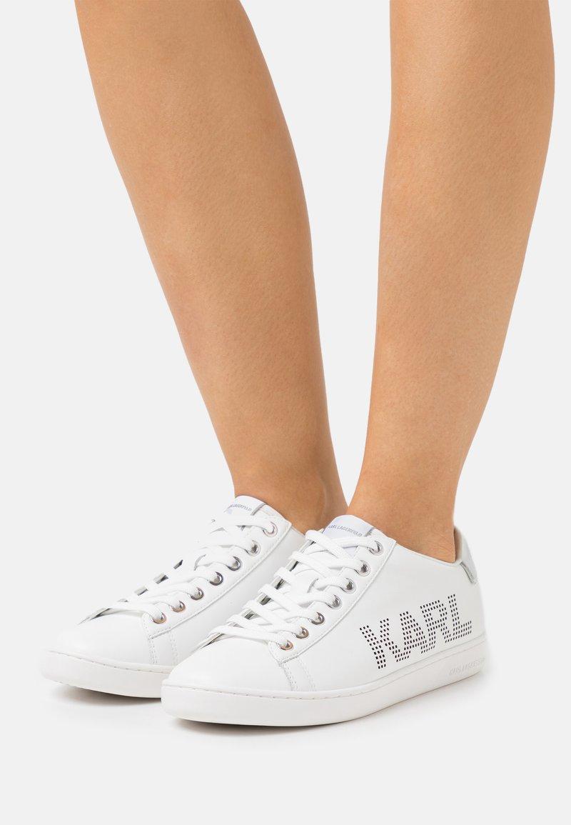 KARL LAGERFELD - KUPSOLE PUNKT LOGO  - Trainers - white/silver