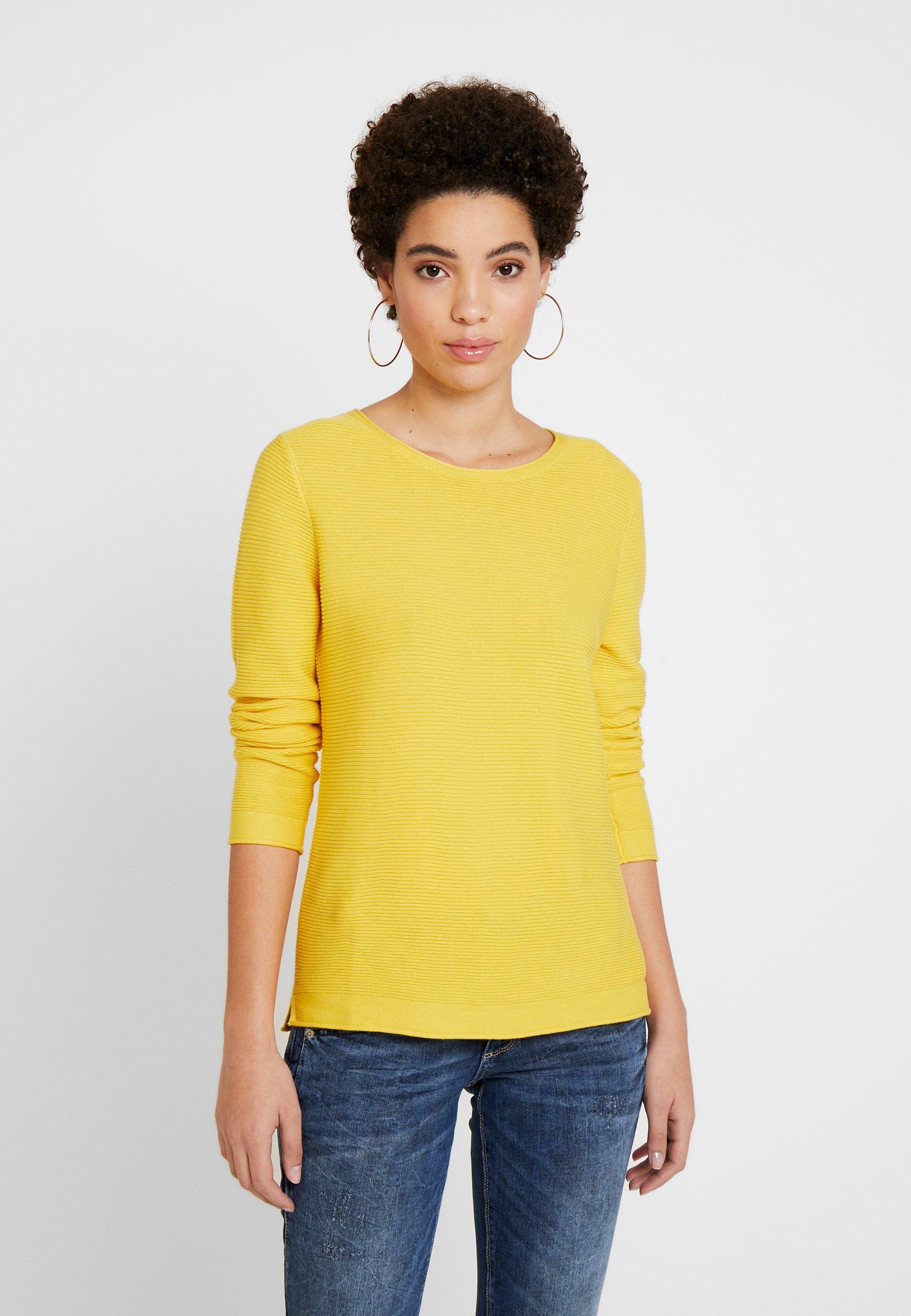 TOM TAILOR NEW OTTOMAN - Strikkegenser - jasmine yellow