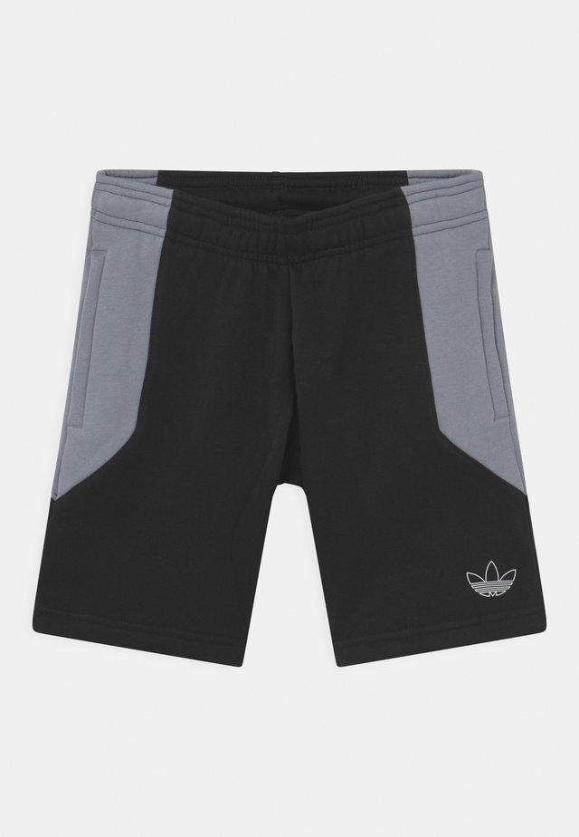 COLOURBLOCK UNISEX - Shorts - black/light grey