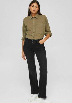 Bootcut jeans - black dark washed
