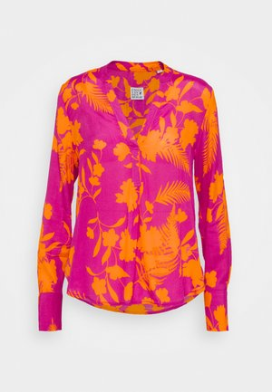 Long sleeved top - orange/pink