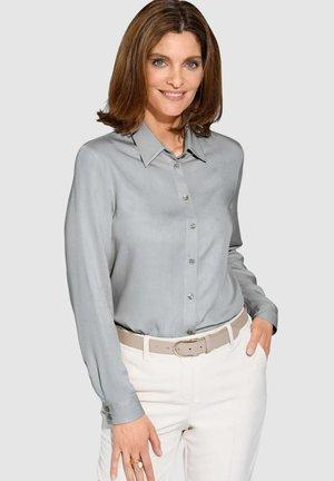 Button-down blouse - silbergrau