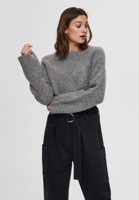 Selected Femme - Sweter - medium grey melange - 0