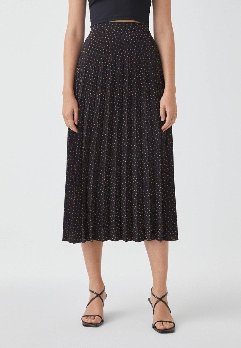 PULL&BEAR - Pleated skirt - black