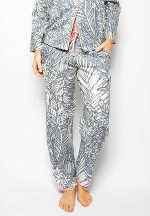 Pyjama bottoms - grey leaf