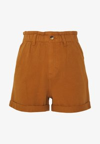 TOM TAILOR DENIM - CONSTRUCTED TWILL - Shorts - mango brown - 0
