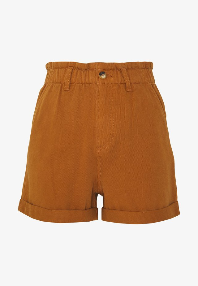 CONSTRUCTED TWILL - Shorts - mango brown