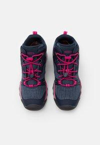 Keen - TERRADORA II MID WP UNISEX - Hiking shoes - black iris/pink peacock - 3