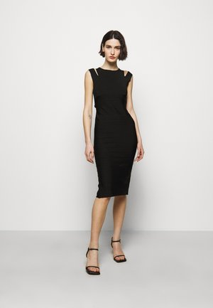CRISS CROSS BACK DRESS - Shift dress - black