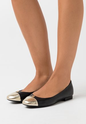 Ballet pumps - black/pale gold