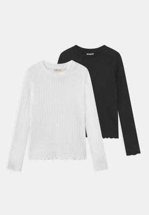 TEEN 2 PACK - Long sleeved top - caviar/coconut milk