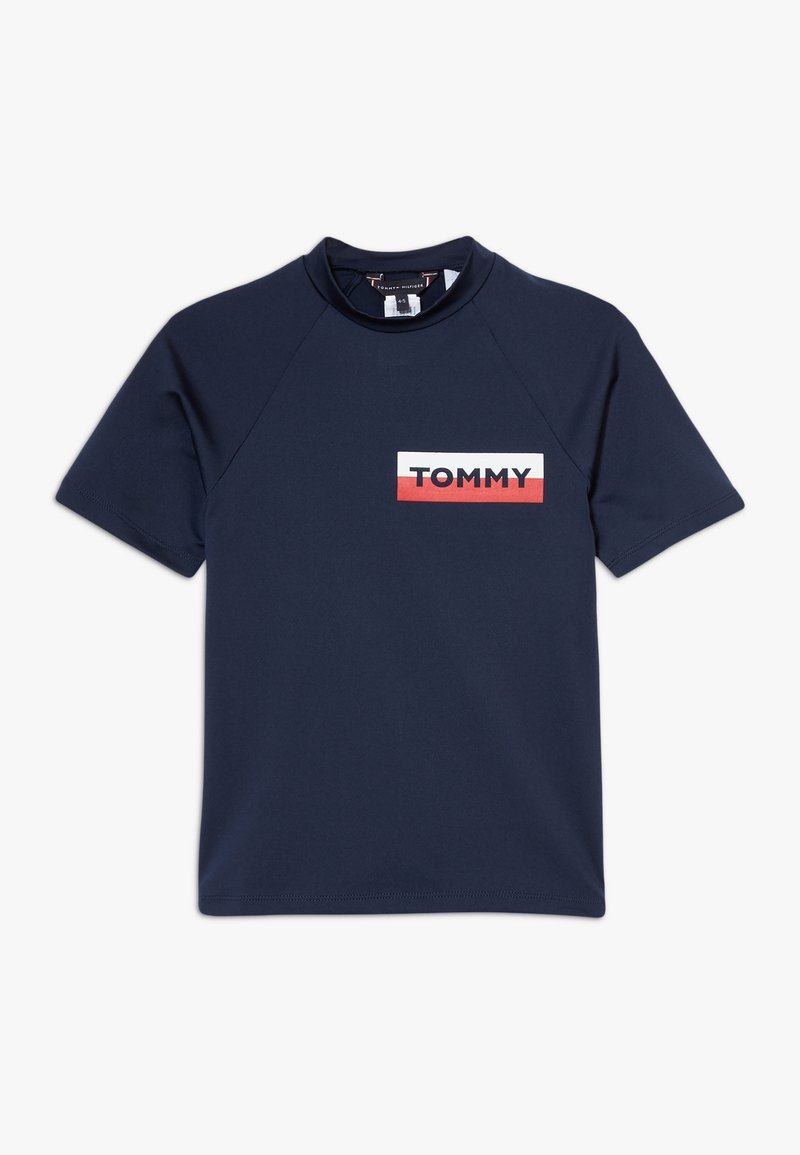 Tommy Hilfiger - RASHGUARD  - Rash vest - blue